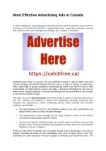 Most Effective Advertising Ads in Canada