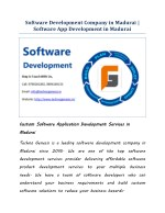 Software Development Company in Madurai | Software App Development in Madurai
