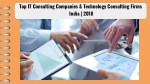 Top IT Consulting Companies & Technology Consulting Firms in India | 2018