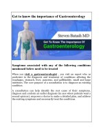 Get to know the importance of Gastroenterology