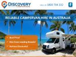 RELIABLE CAMPERVAN HIRE IN AUSTRALIA