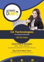 CAT-221 Exam Dumps PDF - Pass CAT-221 Exam with Valid PDF Questions Answers