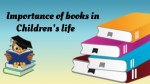 Importance of books in Children's life