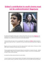 Sridevi's Contribution to South Cinema Must Not Be Underestimated - Nagarjuna
