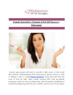 Female Infertility | Vitamin D For IVF Success | Elawoman
