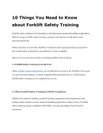10 things you need to know about forklift safety training