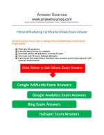 Inbound marketing exam answers