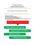 Sales enablement- exam answer