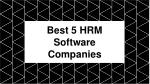 HR System Software Companies For Your Business