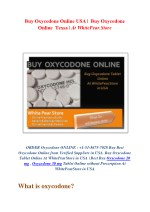 Buy Oxycodone Online USA |  Buy Oxycodone Online  Texas | At WhitePear.Store