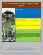 Beautify your home with Patios & Pergolas under budget