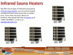 Buy Best Quality Infrared Sauna Heaters