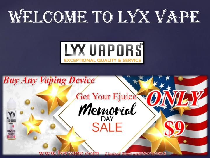 welcome to lyx vape n.
