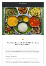 Need Home Cooked Meals? Find & Order Home Cooked Meals Online