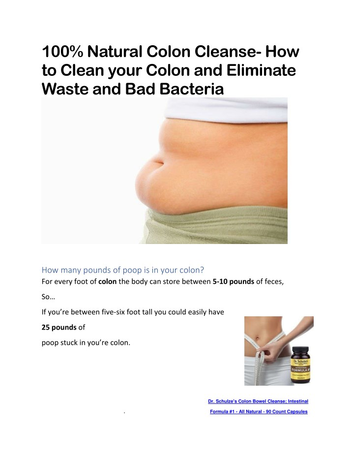 Ppt Colon Cleanse Powerpoint Presentation Id7882410