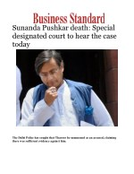 Sunanda Pushkar death: Special designated court to hear the case today