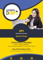 API-571 Exam Dumps - Download Updated API-571 Exam Questions PDF 2018