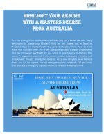 Highlight Your Resume With A Masters Degree From Australia