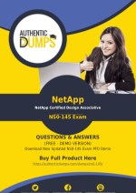 NS0-145 Dumps - Get Actual NetApp NS0-145 Exam Questions with Verified Answers 2018