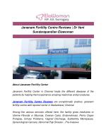 Jananam Fertility Centre Reviews | Dr Vani Sundarapandian Elawoman