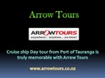 Cruise ship Day tour from Port of Tauranga is truly memorable with Arrow Tours