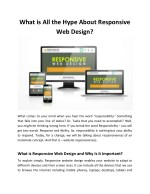 What is All the Hype About Responsive Web Design?