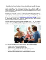 What Do You Need To Know More about Home Family Therapy