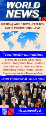 Today World News Headlines, Breaking World News Headlines | NewsroomPost