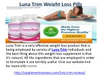 Luna Trim Pills Reviews