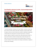 Confectionery in Czech Republic - Consumer Goods Market Insights