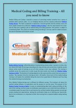 Medical Coding and Billing Training – All you need to know