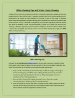 Office Cleaning Tips and Tricks - Fussy Cleaning