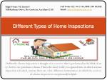 Different Types of Home Inspections