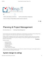 Project Planning Process Steps | Pridesys IT Ltd