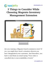3 Things to Consider While Choosing Magento Inventory Management Extension