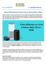 What all Businesses Need to Know about Alexa's Skills