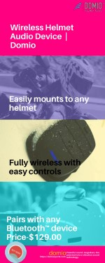 Wireless Helmet Audio Device - Domio