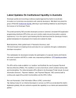 Checkout The Latest Information on Institutional Liquidity