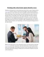 Benefit or Loss of Working with a Real Estate Agent