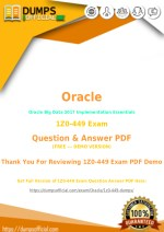 [Free] Latest Oracle 1Z0-449 Exam Questions