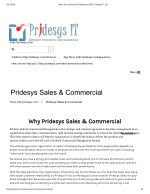 Sales And Commercial Operations ERP | Pridesys IT Ltd