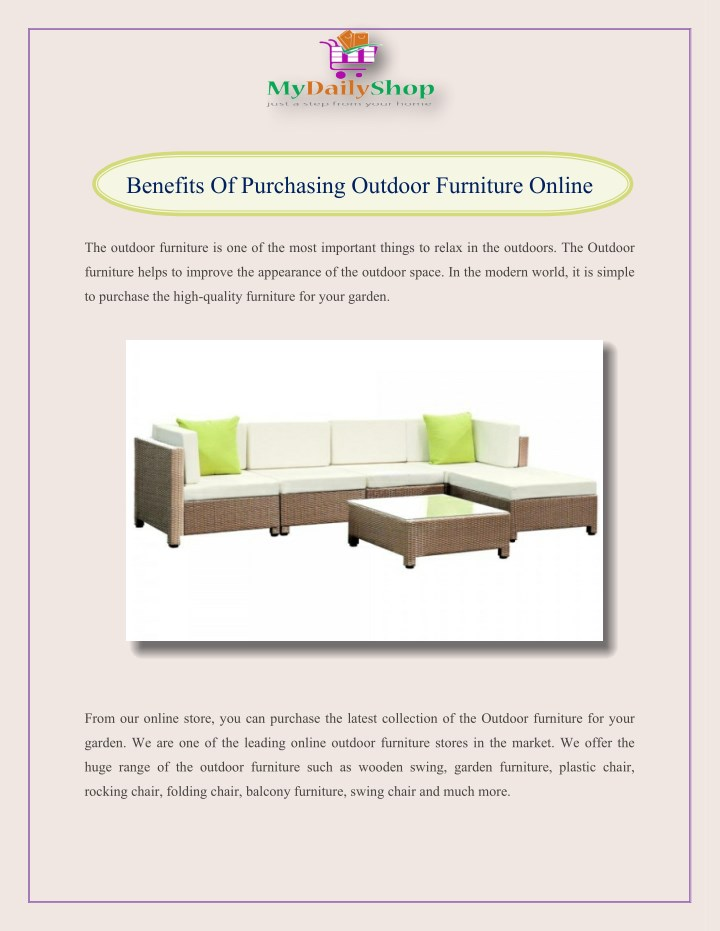 benefits of purchasing outdoor furniture online n.