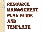 Resource Management Plan Guide and Template by Expert Toolkit