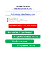 Adwords Mobile Certification Exam Answer