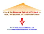 Check the Discount Price for Erlotinib in USA, Philippines, UK and India Online