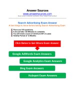 AdWords Search Certification Exam Answer