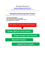 AdWords Shopping Certification Exam Answer
