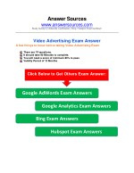 AdWords Video Certification Exam Answer