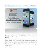 Best Android Mobile Application Development Agency in Madurai
