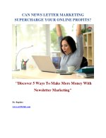 5 Ways To Make More Money With Newsletter Marketing